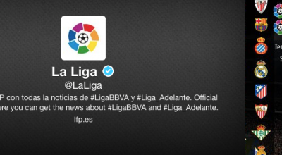La Liga de Fútbol se verá en twitter