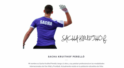 Sacha Kruithof, una promesa para un nuevo deporte